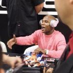 SMS Audio (7) - 50 Cent pushes SMS Audio - 50 Cent - Money Mayweather - CES 2012 - Shaking Hands