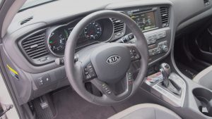 Kia Optima Hybrid – Review - G Style Magazine - interior - steering wheel - dashboard