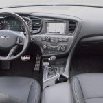 Kia Optima SXL – interior - dashboard steering wheel - review - g style magazine 1