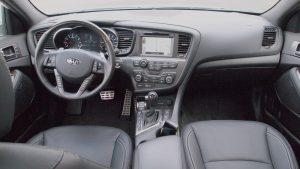 Kia Optima SXL – interior view - dashboard - steering wheel - g style magazine