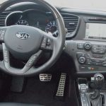 Kia Optima SXL – interior - dashboard steering wheel - review - g style magazine