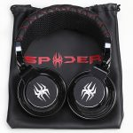 Spider headphones - black - over the ear