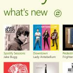Spofity App - Windows Phone 8 - menu