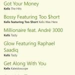Spofity App - Windows Phone 8 - playlists - track listing