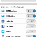 BlackBerry Z10 Tip: Hide Unwanted Social Network in Contacts App - Sort Contacts