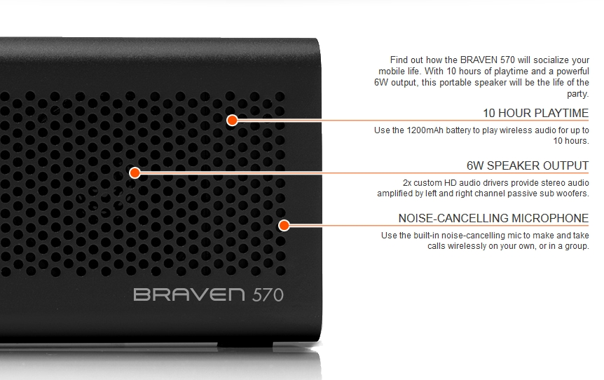 Braven 570 Wireless Bluetooth Speaker Review - Features - G Style Magazine