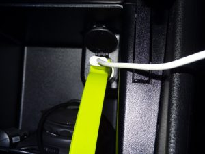 Band Flat Ribbon Car Charger by TYLT - G Style Magazine - In Use