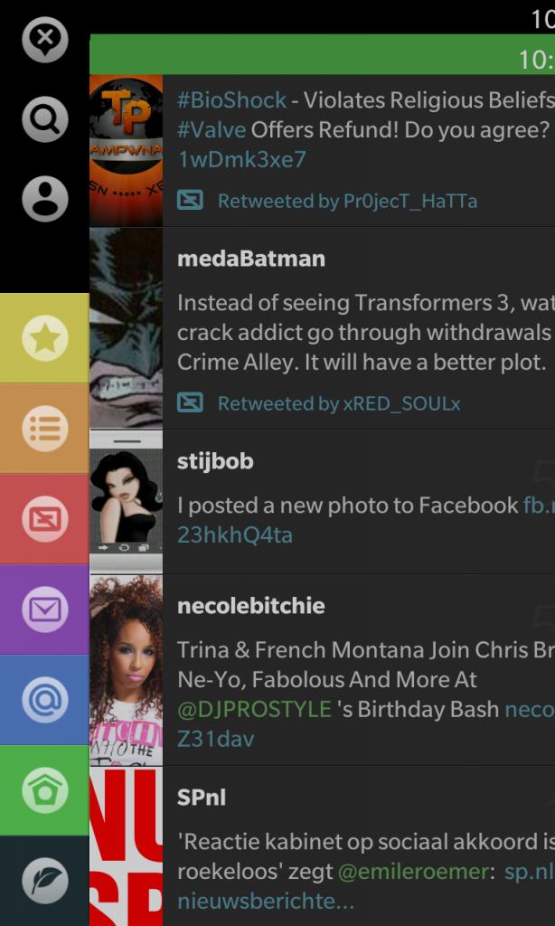 Blaq Twitter App for BlackBerry 10 - G Style