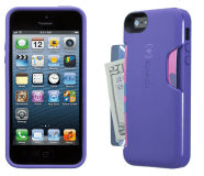 Speck Products SmartFlex Card Case for iPhone 5 - Grape Purple 2 Views- Analie