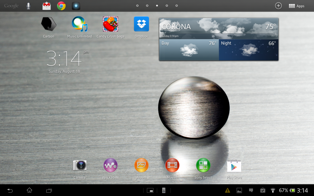 Sony Xperia Tablet Z screenshots (5)