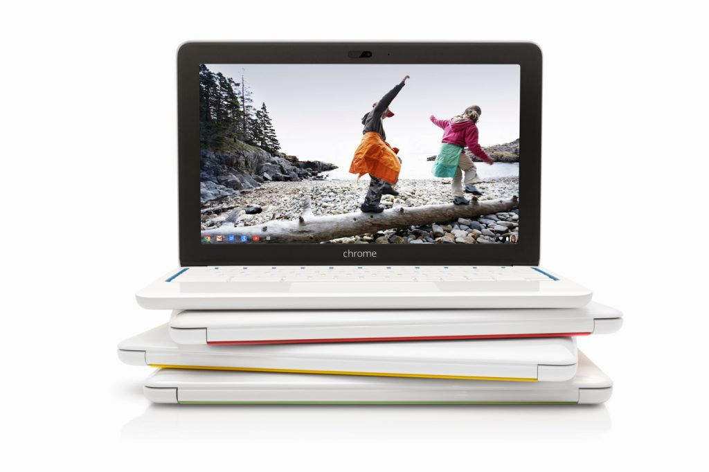 HP Chromebook 11 stacked