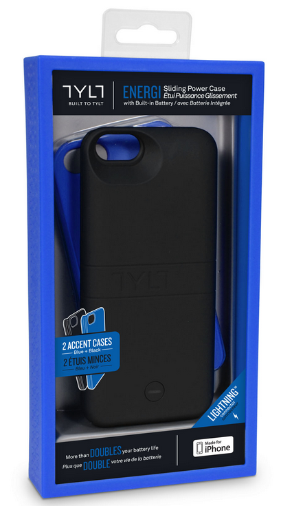 TYLT Energi Sliding Power Case Review iPhone 5 5S and Cases G Style Magazine- Blue