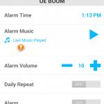 UE Boom App Alarm
