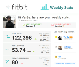 FitBitWeekStats