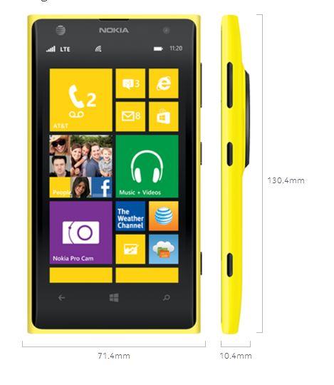 Nokia-Lumia-1020-Phone-Review - Windows-Phone-8-Dimensions