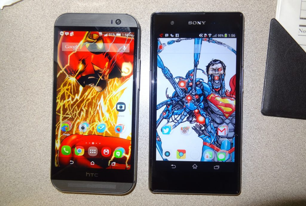 HTC One M8 v. Sony Xperia Z1 (2)