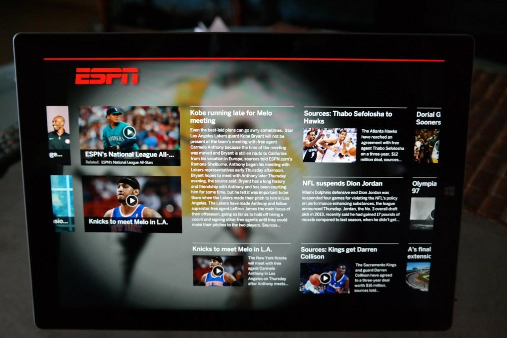 Microsoft Surface Pro 3 ESPN