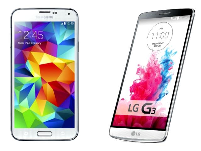 Samsung Galaxy S5 vs LG G3: Battle of the Beasts