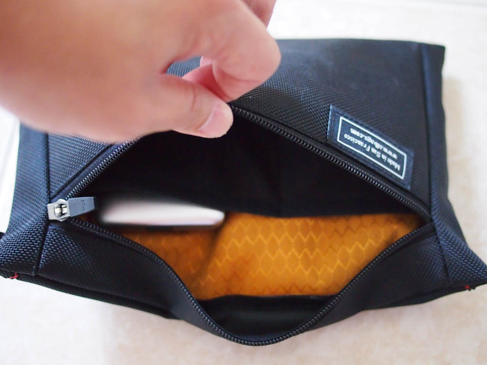 WaterField Cable Guy Pouch Review - Slots