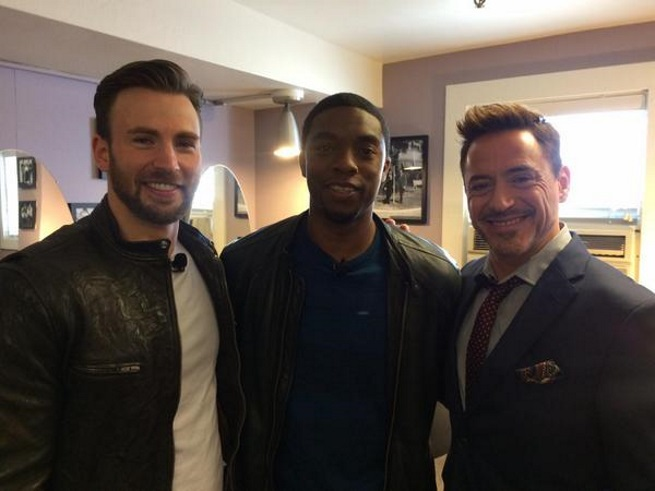 Captain America, Black Panther, Iron Man
