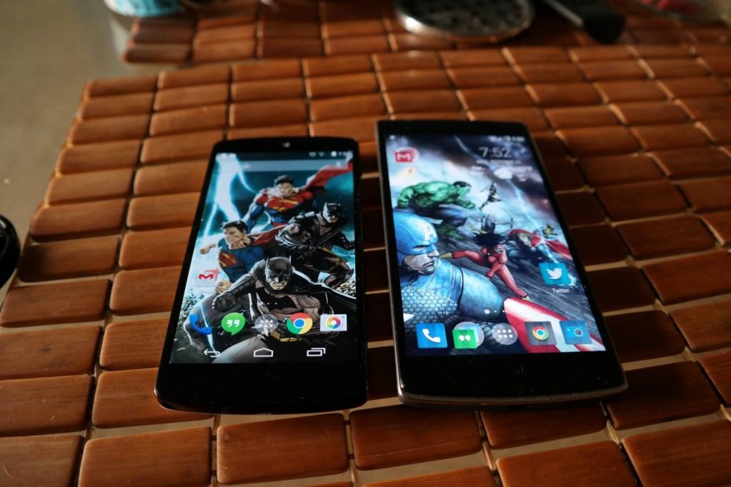 Nexus 5 vs OnePlus One Screen