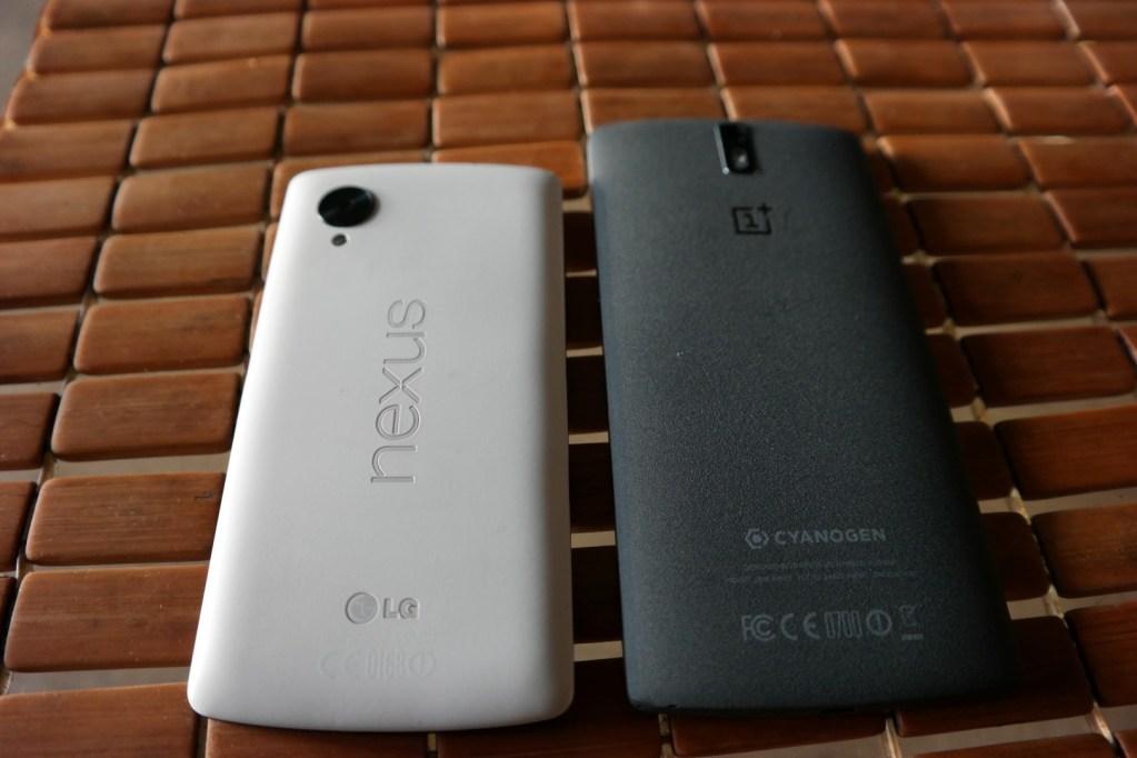 Nexus 5 vs OnePlus One Back