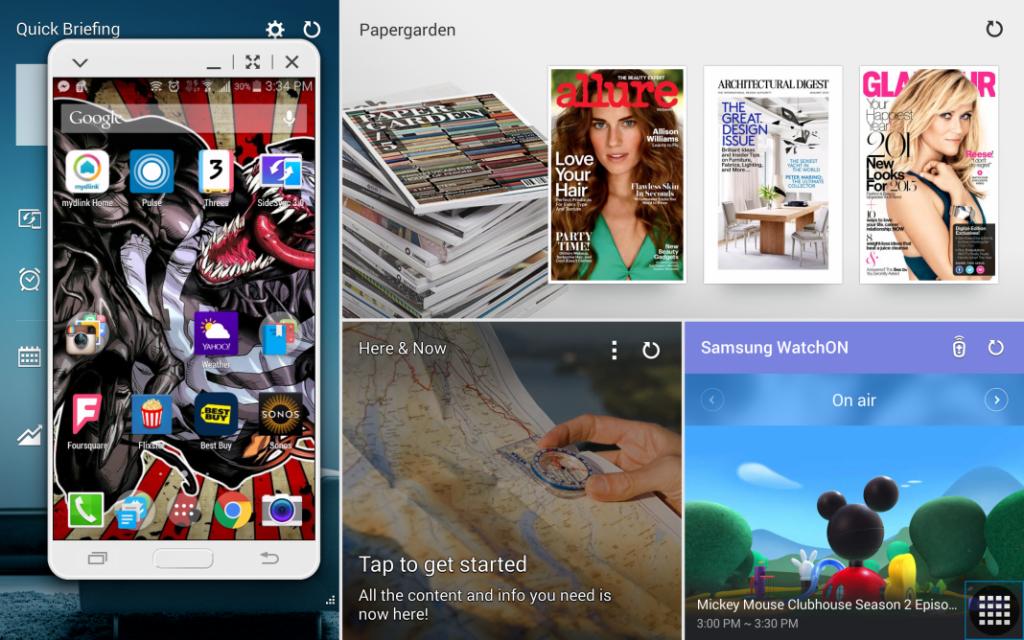 Samsung Galaxy Tab S Magazine UX