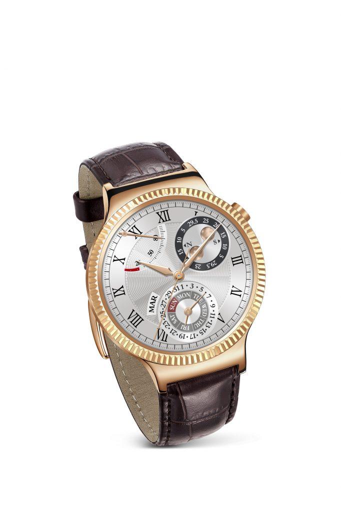 Huawei Watch Gold_Leather Tilt