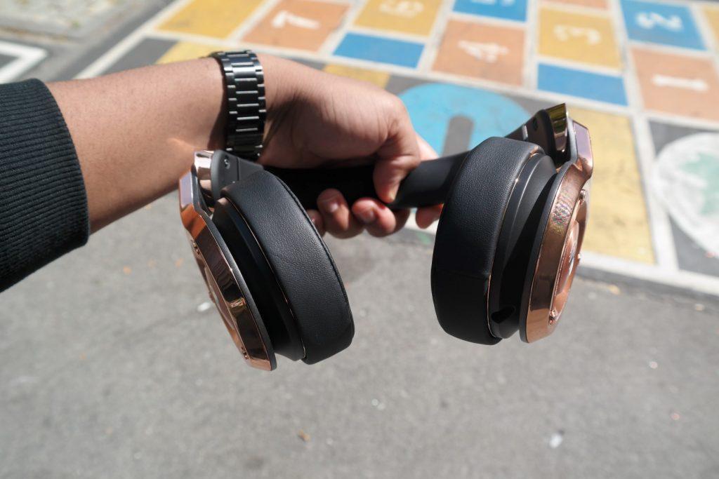 Monster 24K Headphones Rose Gold in Hand 3