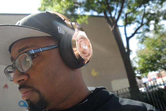 Monster 24K Headphones Rose Gold Side