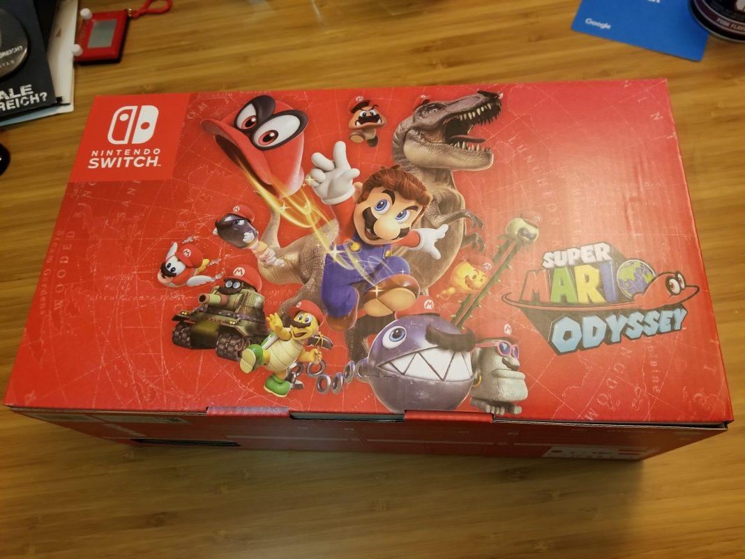 Nintendo Switch Super Mario Odyssey Bundle Edition Unboxing