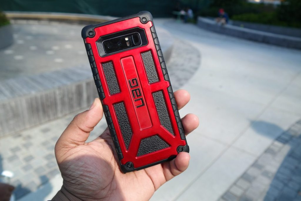 UAG Monarch Series Galaxy Note 8 Case In Hand