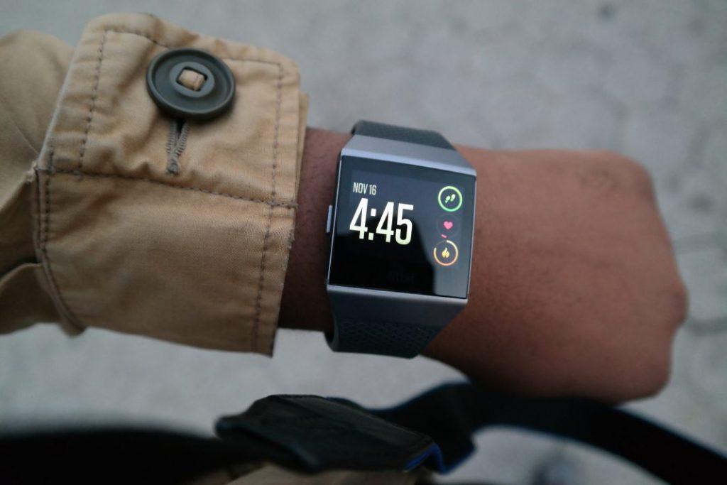 Fitbit Ionic On Wrist