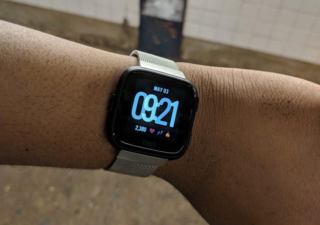 Fitbit Versa Steel Watch
