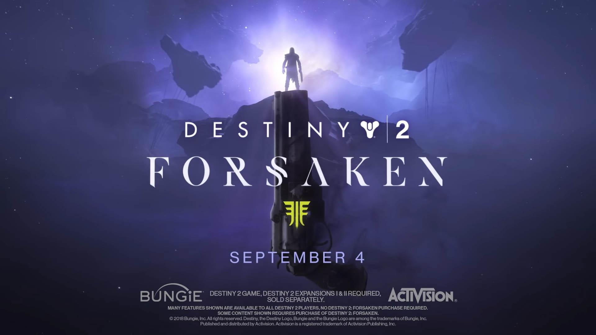 New Destiny 2 Forsaken Trailer Shows Off New Guns And Armor