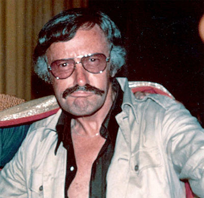 An actual photo of Stan Lee in 1970s